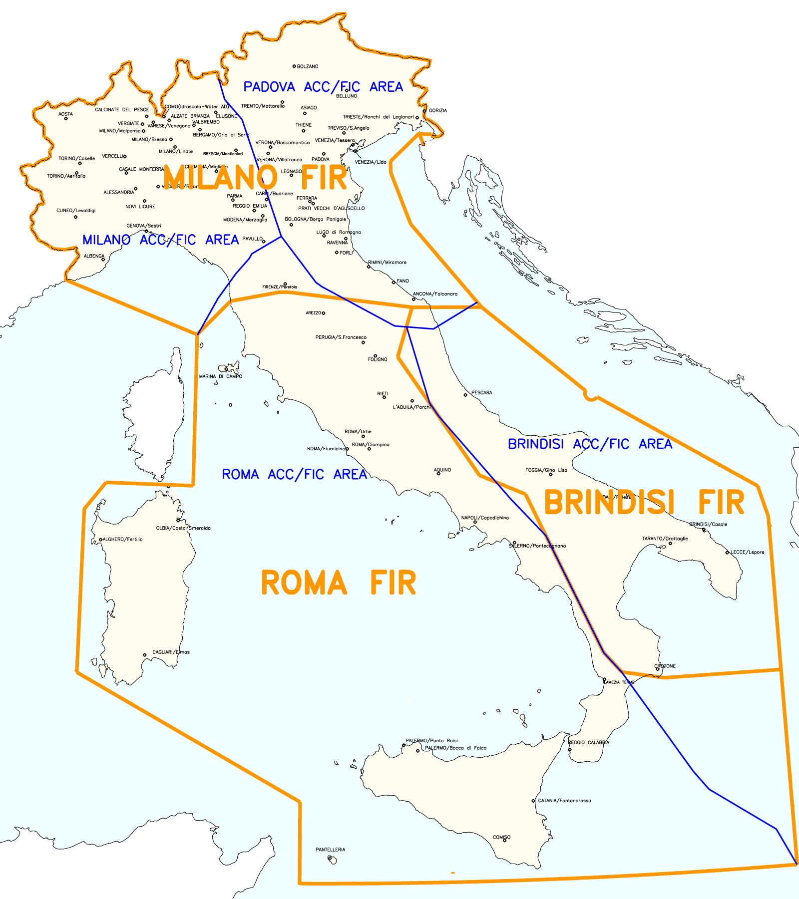 Cartina Atc Sicilia.Struttura E Classificazione Dello Spazio Aereo Italiano Desk Aeronautico