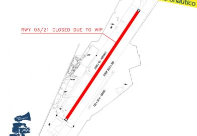 19 agosto: pista 03/21 di Cuneo chiusa