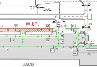 S7/19: lavori di riqualifica della taxiway W a Malpensa
