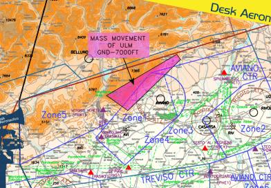 21/22 settembre: attività ULM a nord-ovest di Pordenone