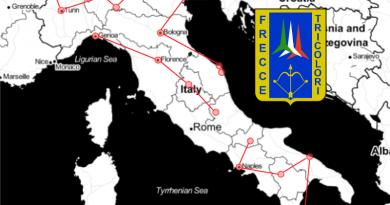 25/29 maggio: Giro d'Italia delle Frecce Tricolori